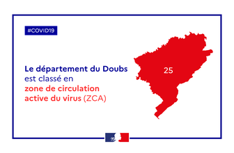 Le Doubs passe en zone de circulation active du virus